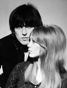 """ George Harrison and Pattie Boyd photographed by Robert Freeman shortly before their wedding ; January, 1966. """