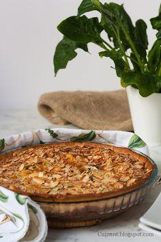 Cuinant: Quiche de Espinacas, Pasas y Queso gorgonzola