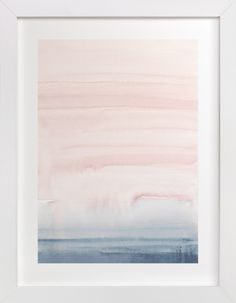 """""""Cascading Sky"""" - Limited Edition Art Print by Little Valley Studio in beautiful frame options and a variety of sizes. Bedroom Art, Nursery Wall Art, Pink Wall Art, Sky Painting, Sky Art, Wall Art Pictures, Blue Art, Custom Art, Watercolor Print"""