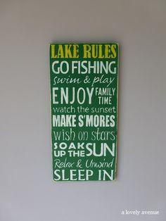 Signs {Lake Rules}