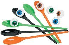 Halloween games for kids parties at school should include this Halloween Spoon Game. They will love playing this Halloween game at school and at home. Includes 2 spoons each of 3 colors and 6 eyeballs. per set) Spoons, 11 balls, 1 © OTC Halloween Games For Kids, Halloween Class Party, Fairy Halloween Costumes, Halloween Party Supplies, Kids Party Games, Halloween Birthday, Halloween Activities, Halloween Themes, Halloween Crafts