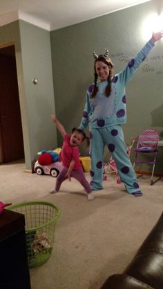 DIY Sully and boo mother daughter Halloween costume