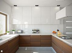 Kuchnia nowoczesna w stylu minimalistycznym - zdjęcie od Okapy kuchenne - Kuchnia - Styl Minimalistyczny - Okapy kuchenne Open Plan Kitchen, Kitchen Reno, Home Decor Kitchen, Kitchen Interior, New Kitchen, Kitchen Storage, Home Kitchens, Cottage Kits, Brown Kitchens