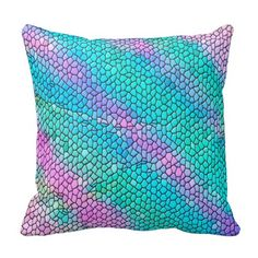 Soft Pastel Mosaic Abstract Pillow