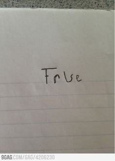 How to answer every True or False quiz