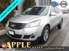2016 Chevrolet Traverse LT 1 LT - Certified - Stk # 61208 - $24,890 - http://www.applechevy.com/VehicleDetails/certified-2016-Chevrolet-Traverse-FWD_1LT-Tinley_Park-IL/2922880343