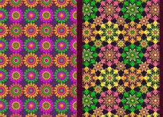 Vibrant African textile print