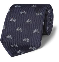 bicycle print tie