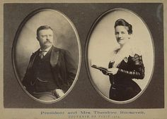 Antique President Theodore Roosevelt 1903 First Lady Cabinet Card Photograph | eBay