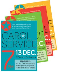 FVD Posters and fliers - Made for a bright campaign leading up to Christmas.