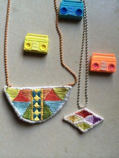 make an embroidered necklace class @Sue Weiland Society feb. 5th 6:30-8:30