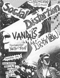 29 Amazing Punk Flyers From The 80s - I wish there were more posters like this…