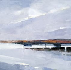 Artist Stephen Robson Painting titled 'Brancaster morning' Oil on Canvas, 50.5 x 50.5 cms