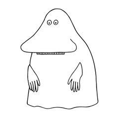 Moomin. The Groke.