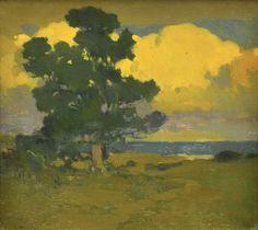 Afterglow at the Seashore - Arthur Frank Mathews