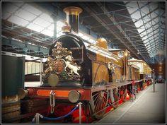Museo Nacional del ferrocarril, en York, 'Gladstone', locomotora de Londres Brighton & South Coast ferroviaria 0-4-2, 1882.