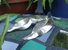 Sterling Silver Leaf Earrings Nature by HeatherEvansJewelry, $48.00
