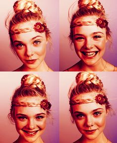 Elle Fanning, adorable. I'm trying this with my hair this summer.