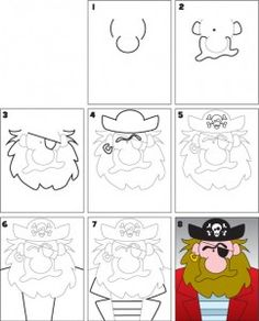 how to draw a pirate map