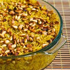 This rice dish doesn't have to include the pine nuts, but I was certainly happy they were there!
