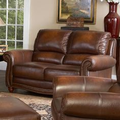 Parker Loveseat by Leather Italia USA