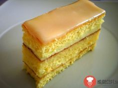 pomarančove rezy Sweet Desserts, Just Desserts, Sweet Recipes, Cake Recipes, Dessert Recipes, Czech Recipes, Oreo Cupcakes, Vanilla Cake, Baked Goods