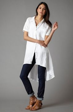 Eileen Fisher Dress, Tank & Ankle Jeans  available at #Nordstrom