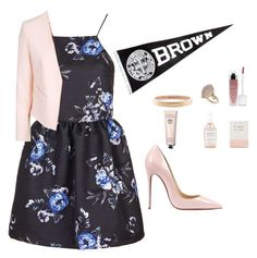 """Brown University"" by sneha-ven on Polyvore featuring Topshop, Christian Louboutin, Chanel, Bobbi Brown Cosmetics, Herbivore Botanicals, women's clothing, women, female, woman and misses"