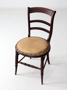 antique accent chair with leather seat decorative wood by 86home