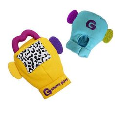 Features a heart-shaped, silicone teething ring, side teethers and a crinkle patch. <h4></h4> • https://tinytotsbabystore.com/product/gummee-glove-yellow/?utm_content=buffer26276&utm_medium=social&utm_source=pinterest.com&utm_campaign=buffer