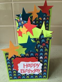 Tri fold stars card
