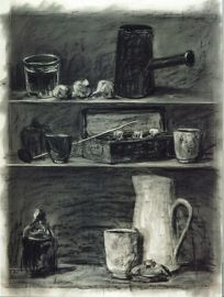 William Kentridge- Drawing for Medicine Chest 2001 Charcoal and pastel on paper