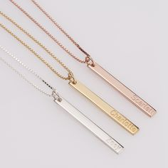 Shop oNecklace for Personalized Jewelry you will cherish forever. Shop Favorites include Name & Monogram Necklaces - making them perfect bridal party gifts. Monogram Necklace, Circle Necklace, Bar Necklace, Necklaces, Fine Jewelry, Jewelry Making, Jewellery, Diamond Solitaire Necklace, Minimal Jewelry