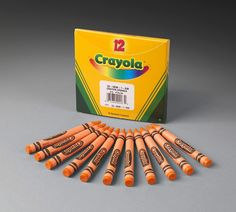 Crayola Bulk Crayons, Regular Size - 12-Pak of 1 color. Blk/Blue/Brn/Crntn Pink/Gold/Gray/Ornge/Pch/Red/Silver/Violet/White/Yellow