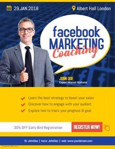 43 best modern business flyer template images on pinterest in 2018 facebook marketing coaching flyer poster template business flyer templates facebook marketing coaching training friedricerecipe Images