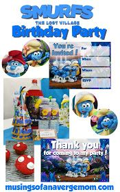 Everything you need for a Smurfs: The Lost Village birthday party