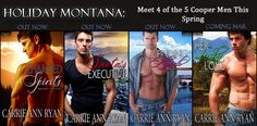 Holiday, Montana is here! Book 3, Finding Abigail, Just released! Have you tried out this sexy take on Holiday shifters with the Cooper brothers?  http://www.carrieannryan.com/books/holiday-montana-series/    Finding Abigail:  Amazon: http://amzn.com/B00BAH7EAQ  Barnes: http://bit.ly/14KLKxw   ARe: http://bit.ly/14Krs7g  Kobo: http://bit.ly/YN66Wr