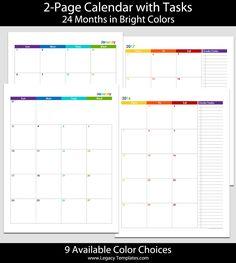 Printable Month Page Calendar  JrHalfLetter
