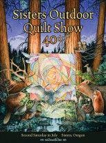 http://sistersoutdoorquiltshow.org תערוכת quilt שנתית ב- Sisters, Oregon. על רקע תפאורה הולמת של המערב הפרוע...