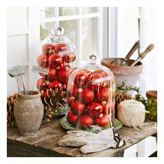 Holiday-Inspired Outdoor Decorating that Lasts ❤ liked on Polyvore featuring christmas and pictures