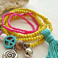 Colorful bracelets Yellow bracelet Jewelry Bracelets