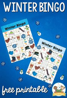 Winter Bingo Printable for Preschool and Pre-K – Pre-K Pages Printable Winter Bingo for Preschool. Bingo isn't just fun for kids to play, it's also very educational! Print this winter bingo in color or black and white for your kids! Winter Activities For Kids, Winter Crafts For Kids, Winter Kids, Preschool Winter, Winter Thema, Bingo For Kids, Pre K Pages, School Fun, Preschool Crafts