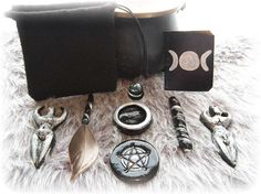 Mini Goddess Travel Altar Spell Kit Set - Goddess and God Figurine - Wiccan, Pagan, Witchery, Witchcraft, Spell, Ritual Supplies. $12.95, via Etsy.