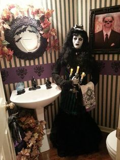 Click this pin to see the hauntingly beautiful setting Michelle  S. entered in Grandin Road's Spooky Decor Photo Challenge. Michelle  S. could win one of four $2,500 Grandin Road gift cards. Can you craft an eerily elegant Halloween scene? Enter yourself!
