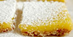 Lemon Bars with Almond Crust Recipe | http://aol.it/RCa1Db