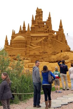 Sand Sculpture Festival in Belgium. I know, this pin should probably be on the Arts and crafts board, but the sculptures remind me of childhood, and the joy of creating very inspired bucket castles and mud pies etc., and felt it belonged here instead.