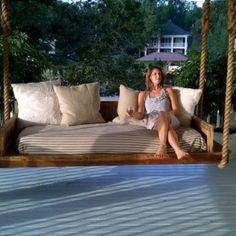 Relaxing Outdoor Hanging Beds