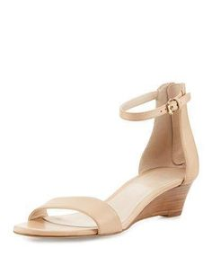 0bbe60901c5 COLE HAAN ADDERLY GRAND LEATHER LOW-WEDGE SANDAL - Cole Haan leather d Orsay  sandal. 1.5