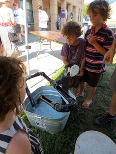 """Water pump & pipes from Takoma Park Cooperative Nursery School ("""",) - Vorschule Takoma Park, Folk Festival, Nursery School, Water Play, Preschool Kindergarten, Eyfs, Childcare, Pipes, Activities For Kids"""