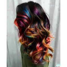 21 Fabulous Rainbow Hair Color Ideas 2016 2017 On Haircuts ❤ liked on Polyvore featuring accessories and hair accessories